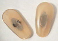 Beige Gold color nose pads for Ray-Ban sunglasses and eyeglasses