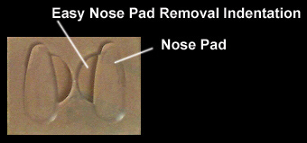Nose pads for plastic glasses
